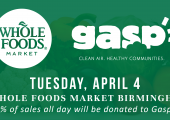 On April 4, Whole Foods Market Birmingham to Donate 5% of Sales to Gasp